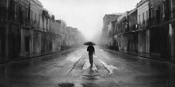 blue streets rain men sad digital art artwork umbrellas alone man 1920x1200 wallpaper_wallpaperswa.com_74
